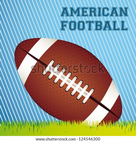 Illustration of American football game, sports and entertainment, vector illustration