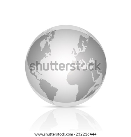 Illustration of an abstract world globe isolated on a white background.