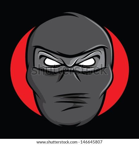 Ninja mask vector