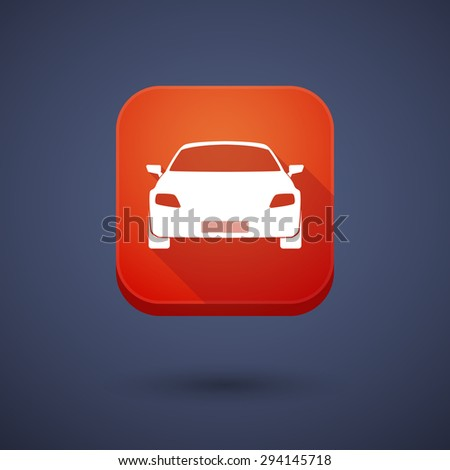 Illustration of an app button with a car - stock vector