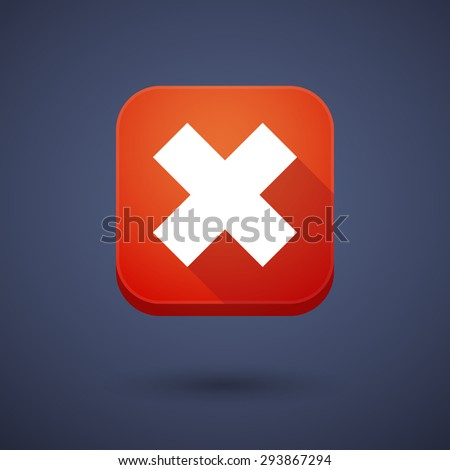 Illustration of an app button with an x sign