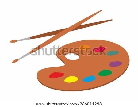 illustration of an artist's palette - stock vector