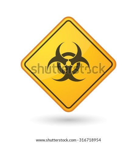 Illustration of an awareness sign with a biohazard sign - stock vector
