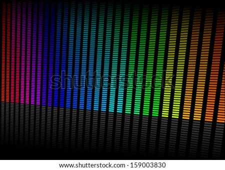 illustration of an colorful equalizer visualisation, symbol for music and sound - stock vector
