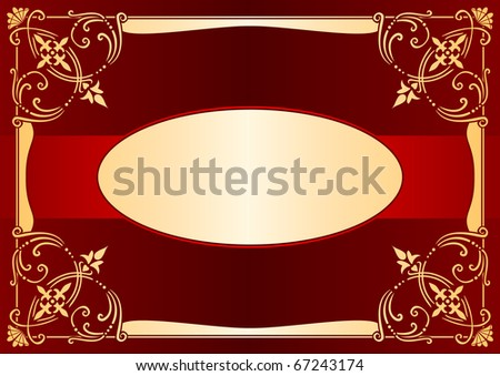 Illustration of an editable greeting card image - stock vector