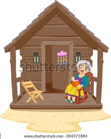 Log Cabin Front Porch Swing