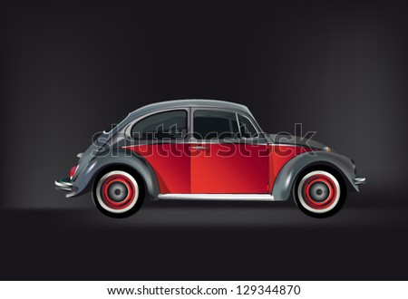 illustration of an exclusive beetle - stock vector