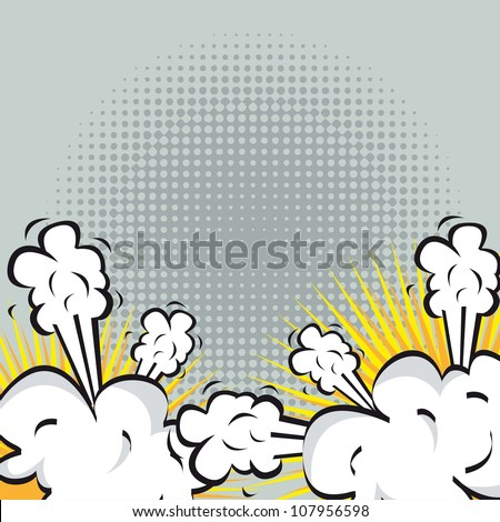 Illustration of an explosion or fight in comics. vector illustration - stock vector