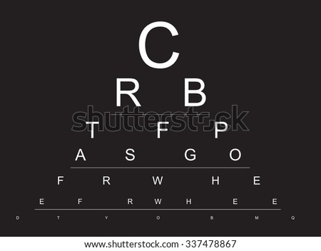 illustration of an eye examination chart
