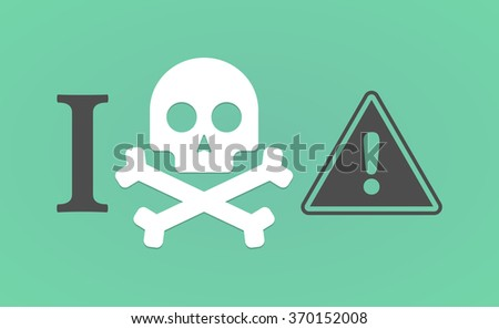 "Illustration of an ""I don't like"" hieroglyph with a warning signal - stock vector"