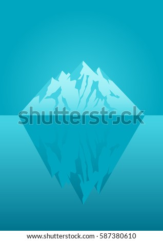 icebergvector flat stock vector shutterstock illustration of an iceberg concept for iceberg principle