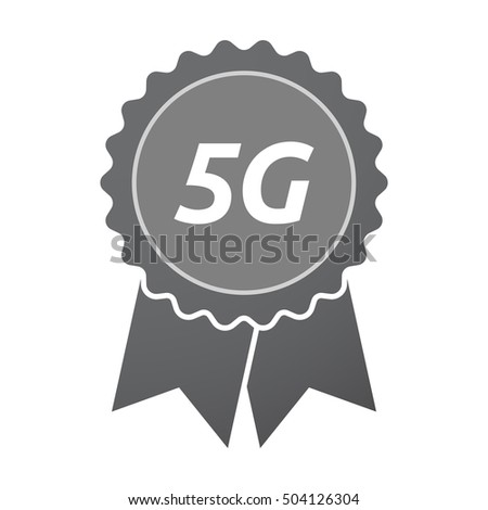 Illustration of an isolated badge icon with    the text 5G