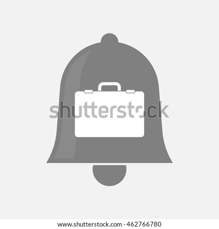 Illustration of an isolated bell icon with  a briefcase