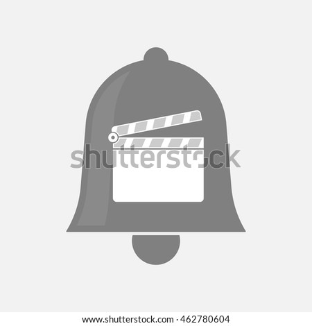 Illustration of an isolated bell icon with a clapperboard