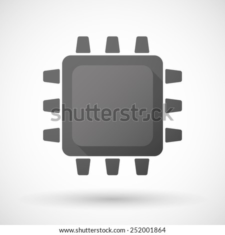 Illustration of an isolated black CPU icon - stock vector