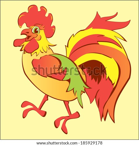 Illustration of an isolated cock - stock vector
