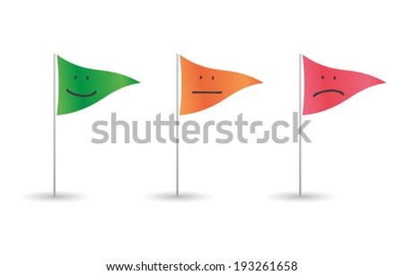 Illustration of an isolated colored flags set - stock vector
