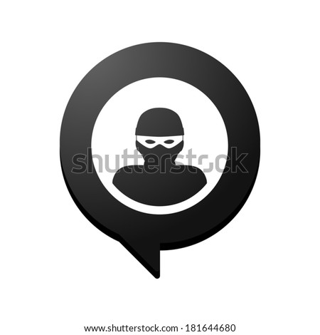 Illustration of an isolated comic balloon  with a thief - stock vector