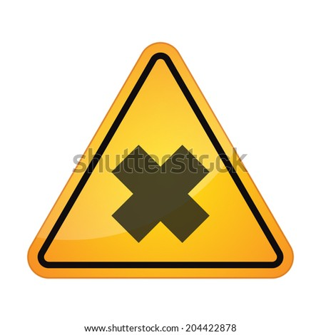 illustration of an isolated danger signal - stock vector