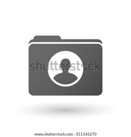 Illustration of an isolated folder with a male avatar - stock vector