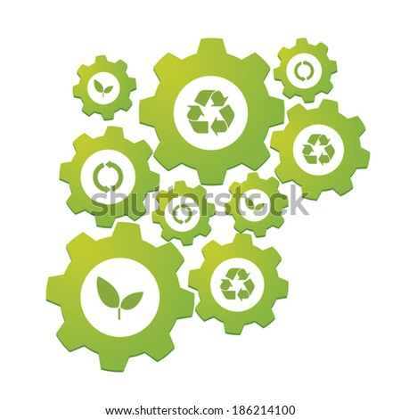 Illustration of an isolated gear concept - stock vector