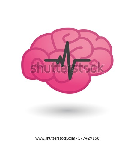 Illustration of an isolated heart beat icon - stock vector