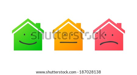 Illustration of an isolated house icon set - stock vector