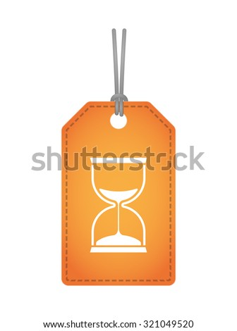 Illustration of an isolated label icon with a sand clock - stock vector