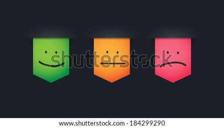 Illustration of an isolated ribbon icon set - stock vector