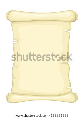 Illustration of an old paper scroll. EPS 10. No transparency. No gradients. - stock vector