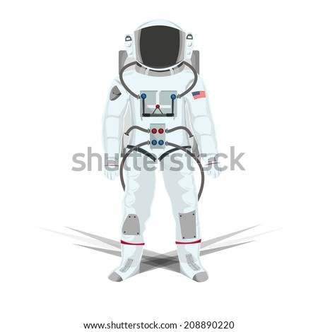 Illustration of Astronauts isolated white  - stock vector