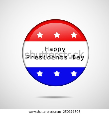 Illustration of Badge or button with American Flag  for Presidents Day