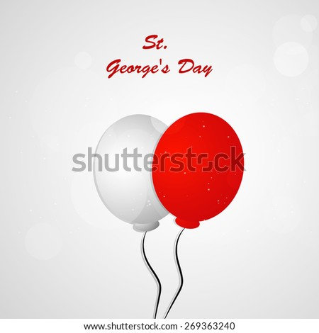st George Balloons Flag For st George's Day