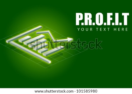 illustration of bar graph showing profit concept - stock vector