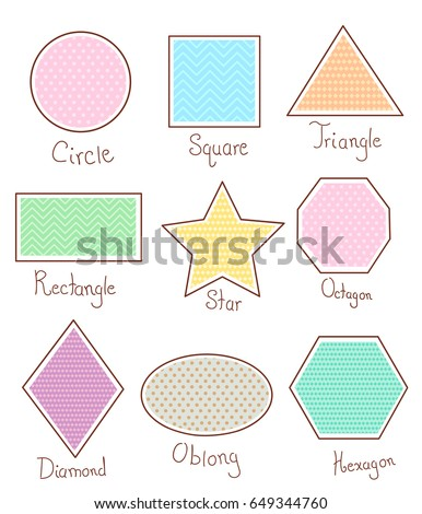 Illustration stickman kids holding basic shapes stock vector illustration of basic geometric shapes like circle square triangle rectangle star urmus Gallery
