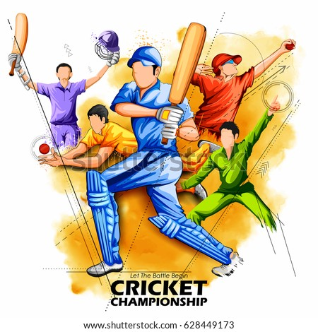 Sports cricket image