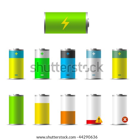 Illustration of Batteries - stock vector