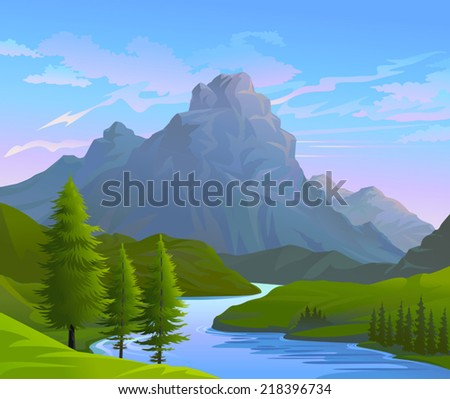 ILLUSTRATION OF BEAUTIFUL NATURE - stock vector