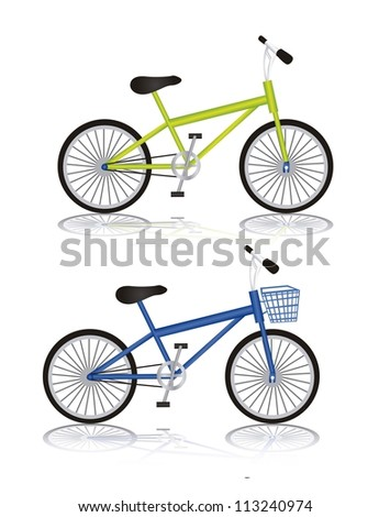 Illustration of bike isolated on white background, vector illustration