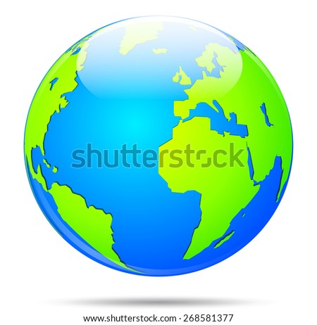 illustration of blue and green earth globe