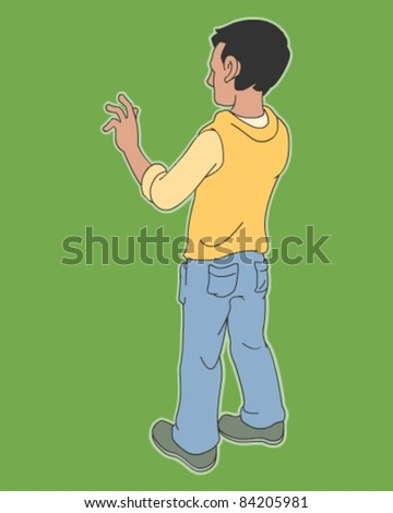 Illustration of boy - stock vector
