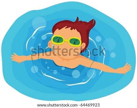 illustration of boy on a white background - stock vector
