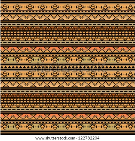 Illustration of brown ethnic texture, african style