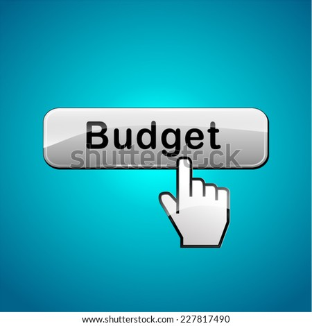 illustration of budget web button abstract concept - stock vector