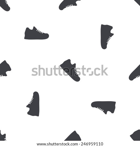illustration of business and finance icon sneakers - stock vector