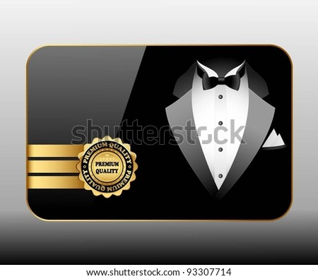 Illustration of business cards premium quality. Vector. - stock vector