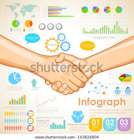 illustration of Business Infographics Chart showing partnership - stock vector