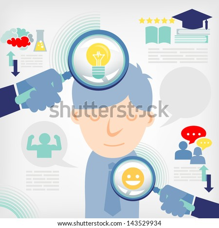 Illustration of business people for employment - stock vector