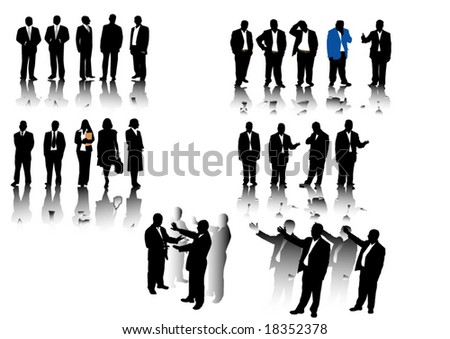 Illustration of business people isolated on white