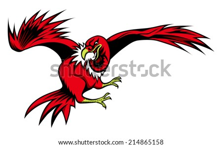 illustration of Cartoon vulture for sign or sport team - stock vector